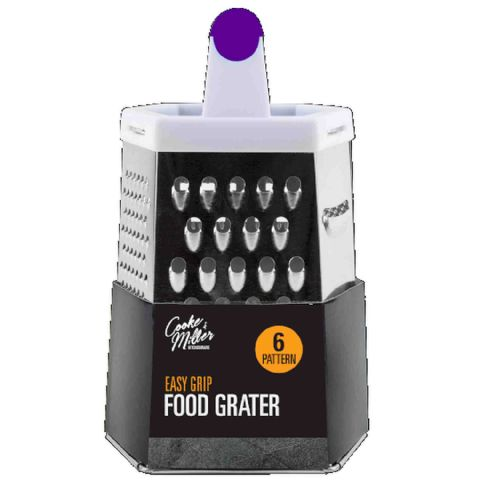 6 Sided Metal Purple Handle Grater